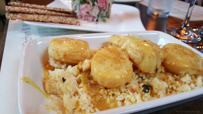 Seared Scallops in a Curry Sauce at Crush Kitchen, Annapolis MD
