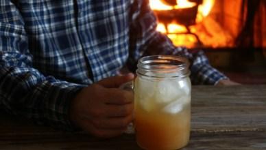 Apple Cider Jack. An apple cider cocktail with AppleJack and Club Soda