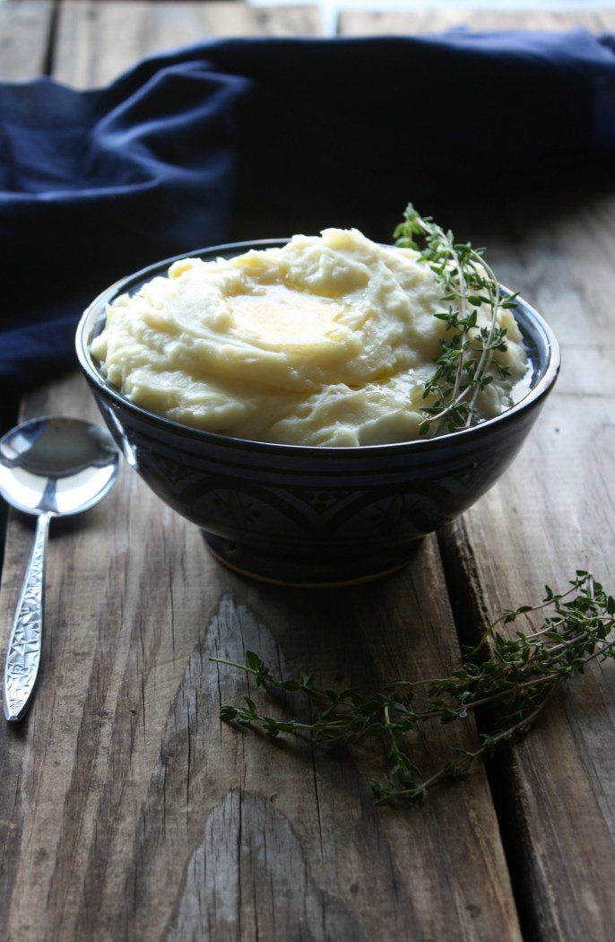 Parsnip Recipe: Mashed Potatoes & Parsnips with Thyme Infused Butter