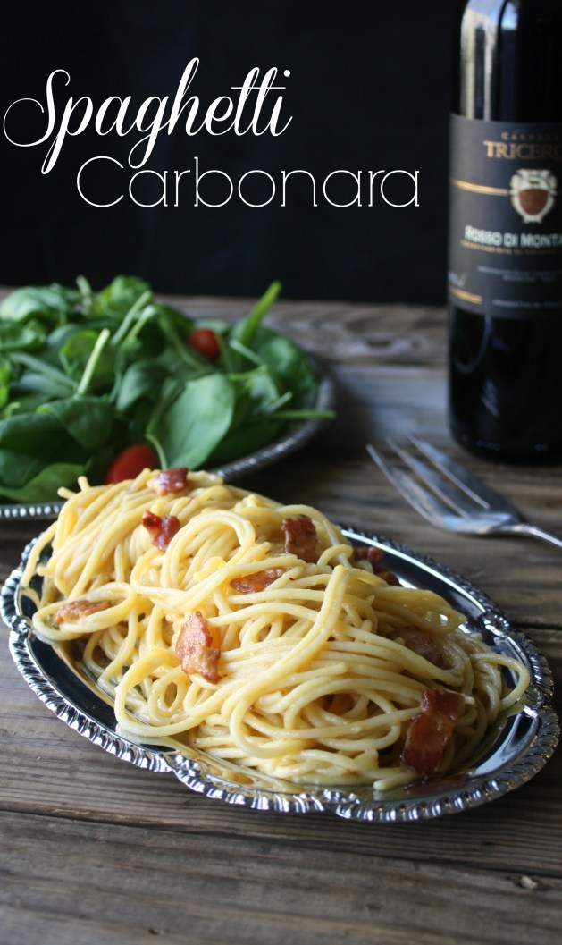 Authentic Spaghetti Carbonara recipe. The recipe is easy but to pull it off perfectly you have to get the timing down. This recipe gives you the exact steps so everything is ready at the same time so it comes out hot and perfect.