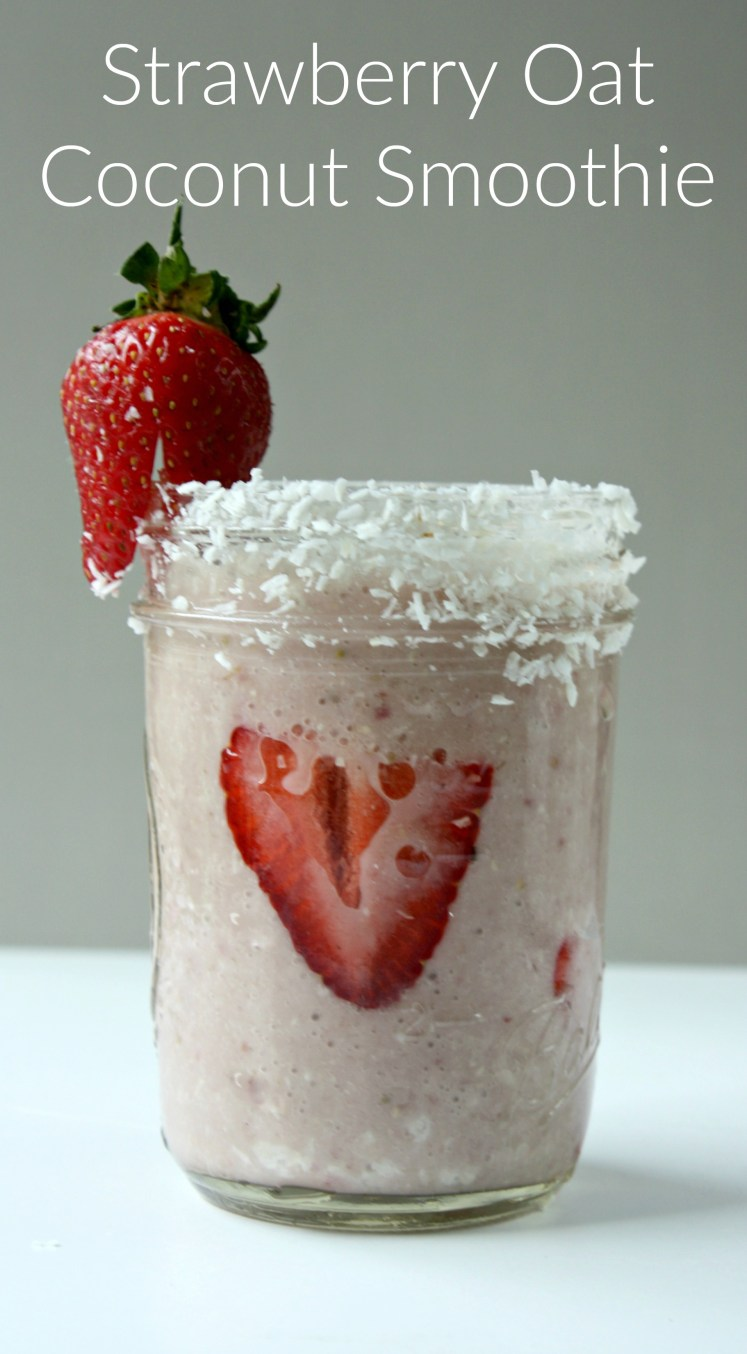 Strawberry Oat Coconut Smoothie