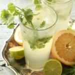 Cilantro Grapefruit Gin and Tonic 1