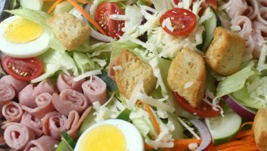 Chef's Salad is filled with crisp lettuce, fresh vegetables, deli meats and cheese. This entree sized Chef's Salad is perfect for lunch or dinner.