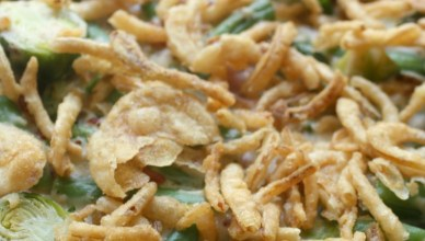 Green Bean and Brussels Sprout Casserole