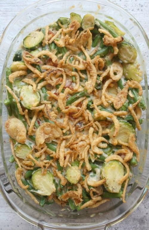 Green Bean Brussels Sprout Casserole