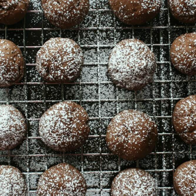 Skinny Chocolate Fudge Cookies