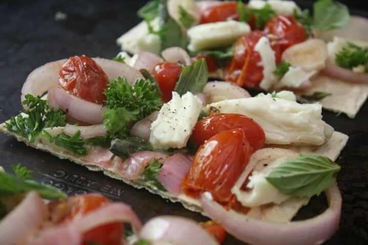 Thin Crust Caprese Pizza