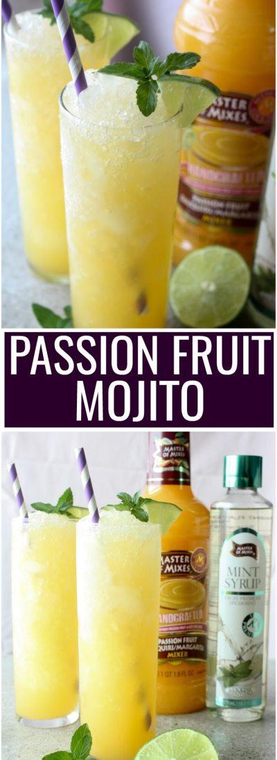 Frozen Passion Fruit Mojito