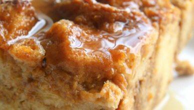 Pumpkin Bread Pudding recipe. My favorite Fall Dessert.