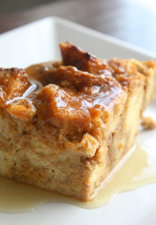 Pumpkin Bread Pudding recipe. My favorite Fall Dessert.