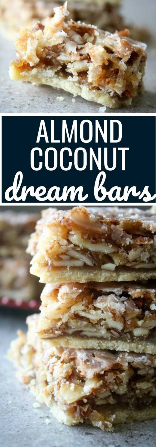 Almond Coconut Dream Bars also known as Angel Bars.