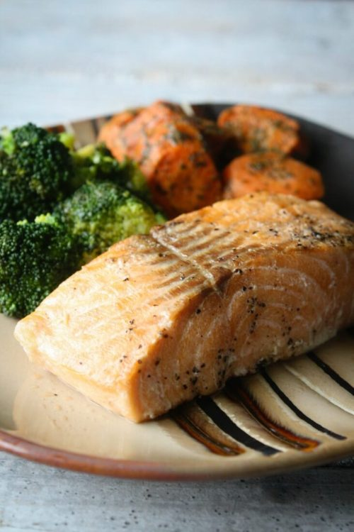 Chargrilled Salmon and Honey Roasted Carrots from Home Bistro. Prepared Meal Delivery Review.