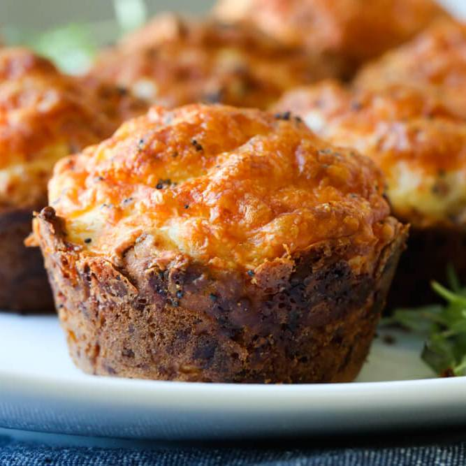 Savory Muffins with Ham and Cheese