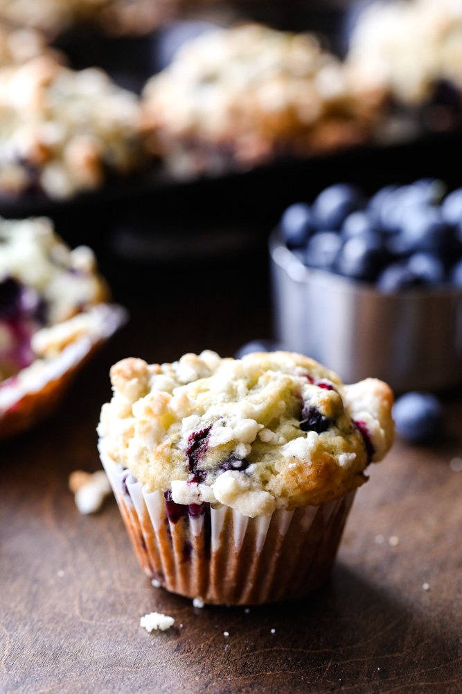 Box Mix Blueberry Muffins with Crumb Topping