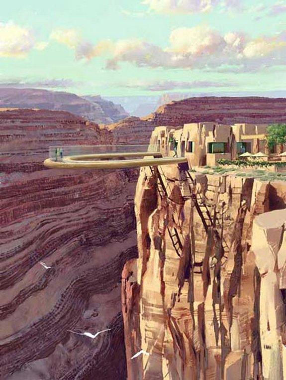 стеклянному мосту над Колорадо 03 в 4000 футов стекла мост над рекой Колорадо