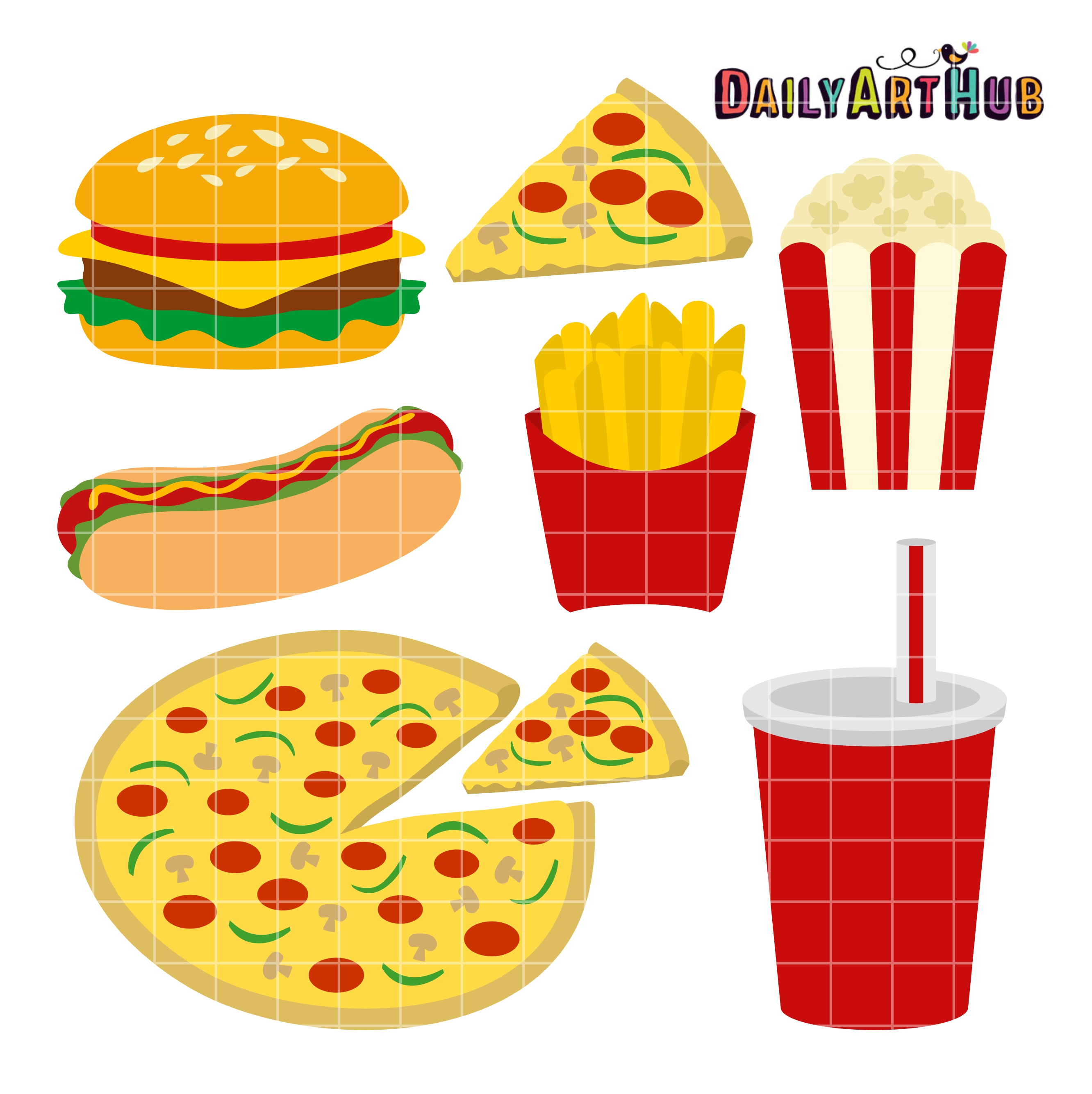 Fast Food Clip Art Set