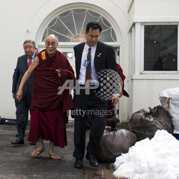 Dalai Lama leaves the White House