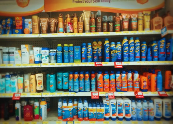 Just SOME of the SPF options from the sunscreen aisle at my local Walmart