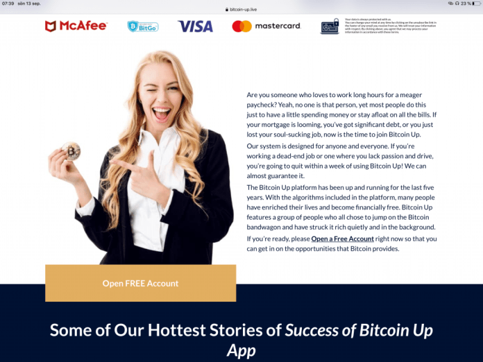 The Tell Tale Signs of a Scam Crypto Website: Bitcoin-Up.Live