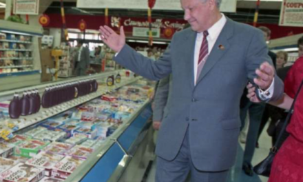 When Yeltsin went to a supermarket