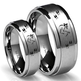 Country Promise Rings for Couples Buck and Doe Ring Set