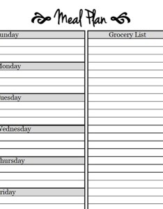 Meal planning template cents and order also printable templates to simplify your life rh dailyburn
