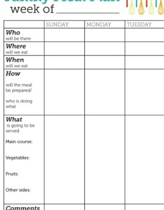 Meal planning template family plan also printable templates to simplify your life rh dailyburn