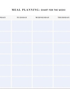 Printable meal planning templates nutrition stripped weekly planner also to simplify your life rh dailyburn
