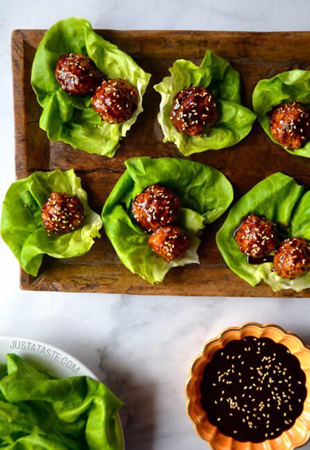 Ground Turkey Recipes: Baked Asian Meatballs