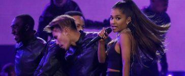 "Ariana Grande performs ""Dangerous Woman"" at the 2016 Billboard Awards in Las Vegas, Nevada, U.S., May 22, 2016. REUTERS/Mario Anzuoni"