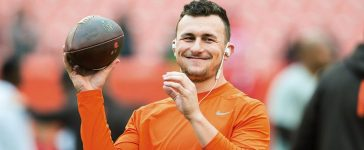 Quarterback Johnny Manziel #2 of the Cleveland Browns warms up prior to the game against the San Francisco 49ers during the first half at FirstEnergy Stadium on December 13, 2015 in Cleveland, Ohio. (Photo by Jason Miller/Getty Images)