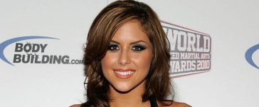 UFC Octagon Girl and model Brittney Palmer arrives at the third annual Fighters Only World Mixed Martial Arts Awards 2010 at the Palms Casino Resort December 1, 2010 in Las Vegas