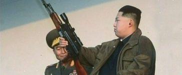 New leader of North Korea Kim Jong-un holds a weapon on January 8, 2012.REUTERS/KRT via Reuters TV