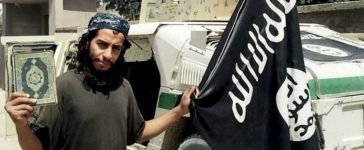An undated photograph of a man described as Abdelhamid Abaaoud that was published in the Islamic State's online magazine Dabiq and posted on a social media website. REUTERS/Social Media Website via Reuters