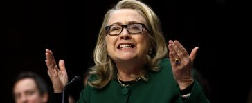 U.S. Secretary of StU.S. Secretary of State Hillary Clinton responds forcefully to intense questioning on the September attacks on U.S. diplomatic sites in Benghazi, Libya, during a Senate Foreign Relations Committee hearing on Capitol Hill in Washington January 23, 2013. REUTERS/Jason Reed.