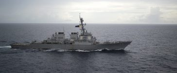 Guided-missile destroyer USS Decatur (DDG 73) operates in the South China Sea as part of the Bonhomme Richard Expeditionary Strike Group (ESG) in the South China Sea on October 13, 2016. Picture taken on October 13, 2016. Courtesy Diana Quinlan/U.S. Navy/Handout via REUTERS