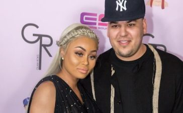 """Rob Kardashian and Blac Chyna arrive at her Blac Chyna Birthday Celebration And Unveiling Of Her """"Chymoji"""" Emoji Collection at the Hard Rock Cafe on May 10, 2016 in Hollywood, California. (Photo by Greg Doherty/Getty Images)"""