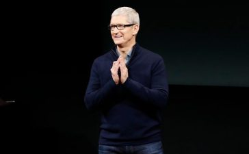 CUPERTINO, CA - OCTOBER 27: Apple CEO Tim Cook speaks on stage during an Apple product launch event. Apple Inc. is expected to unveil the latest iterations of its MacBook line of laptops (Photo by Stephen Lam/Getty Images)