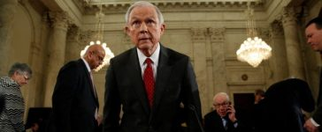 U.S. Sen. Jeff Sessions (R-AL) takes his seat to resume his testimony during a Senate Judiciary Committee confirmation hearing for his nomination to become U.S. attorney general on Capitol Hill in Washington, U.S. January 10, 2017. REUTERS/Kevin Lamarque