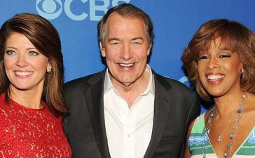 Journalists Norah O'Donnell, Charlie Rose and Gayle King attend CBS 2013 Upfront Presentation at The Tent at Lincoln Center on May 15, 2013 in New York City. (Photo by Ben Gabbe/Getty Images)