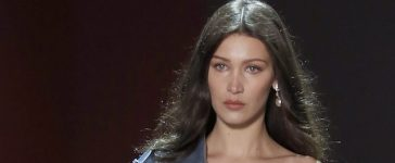PARIS, FRANCE - JANUARY 24: US model Bella Hadid walks the runway during the Alexandre Vauthier Spring Summer 2017 show as part of Paris Fashion Week on January 24, 2017 in Paris, France. (Photo by Thierry Chesnot/Getty Images)
