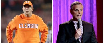 Dabo Swinney, Colin Cowherd (Credit: Getty Images)