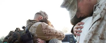Marines From The 3rd Battalion, 10th Regiment Deploy From Camp Lejeune