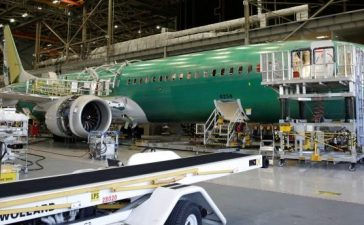 Boeing's new 737 MAX-9 is pictured under construction at their production facility in Renton, Washington, February 13, 2017. REUTERS/Jason Redmond