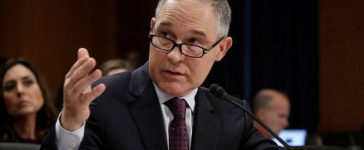 Oklahoma Attorney General Scott Pruitt testifies before a Senate Environment and Public Works Committee confirmation hearing on his nomination to be administrator of the Environmental Protection Agency in Washington, U.S., January 18, 2017. REUTERS/Joshua Roberts/File Photo