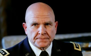 Newly named National Security Adviser Army Lt. Gen. H.R. McMaster listens as U.S. President Donald Trump makes the announcement at his Mar-a-Lago estate in Palm Beach, Florida U.S. February 20, 2017. REUTERS/Kevin Lamarque