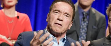 """Arnold Schwarzenegger attends """"The New Celebrity Apprentice"""" Q & A and Red Carpet Event At Universal Studio, Universal City, California, on December 9, 2016. (Photo credit: RICHARD SHOTWELL/AFP/Getty Images)"""