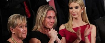 Widow of Fallen Navy SEAL, Senior Chief William Owens, Carryn Owens and Ivanka Trump attend a joint session of the U.S. Congress with U.S. President Donald Trump on February 28, 2017 in the House chamber of the U.S. Capitol in Washington, D.C. (Photo by Alex Wong/Getty Images)