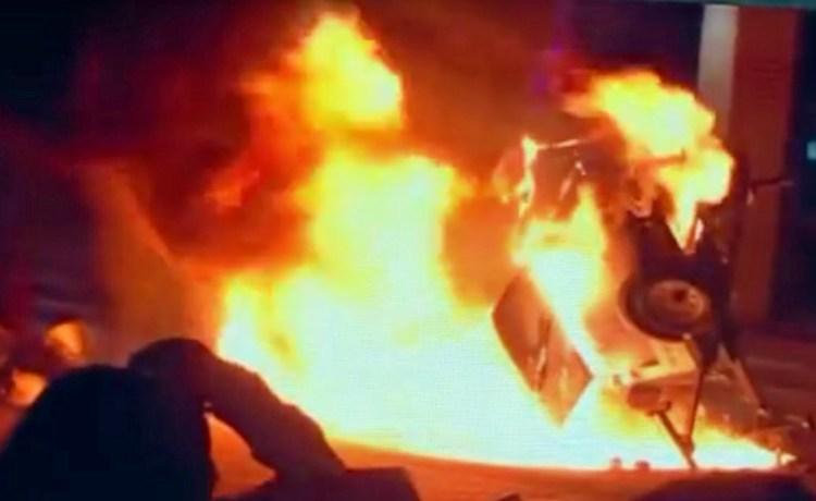 Berkeley riot (YouTube screenshot ABC News)