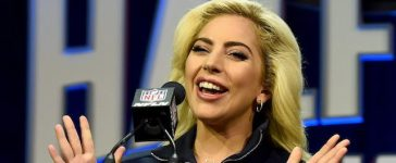Lady Gaga at the Super Bowl LI halftime show press conference at the George R. Brown Convention Center on February 2, 2017 in Houston, Texas. Pictured: Lady Gaga Ref: SPL1433702 020217 Picture by: PG / Splash News